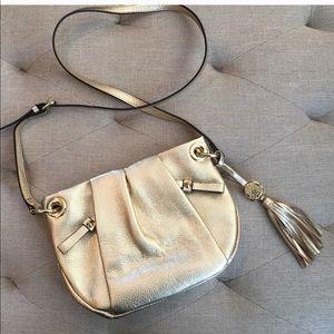 Vince camuto gold crossbody purse